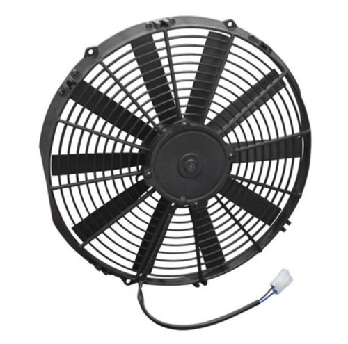 """SPAL 14.00"""" Electric Fan Pusher Style Low Profile 1280CFM 10-blade straight style blade"""