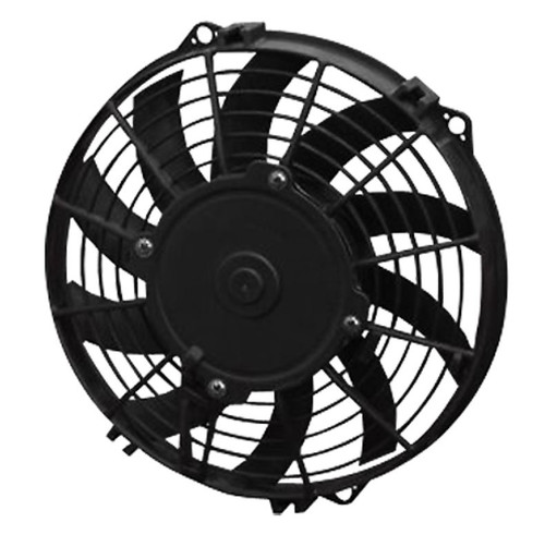 """SPAL 9.00"""" Inch Electric Fan Puller Style Low Profile 625 CFM 10 Straight Style blades"""