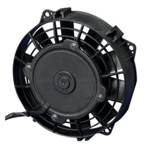 """SPAL 6.50"""" Inch Electric Fan Pusher Style Low Profile 301 CFM 10 Straight Style blades"""