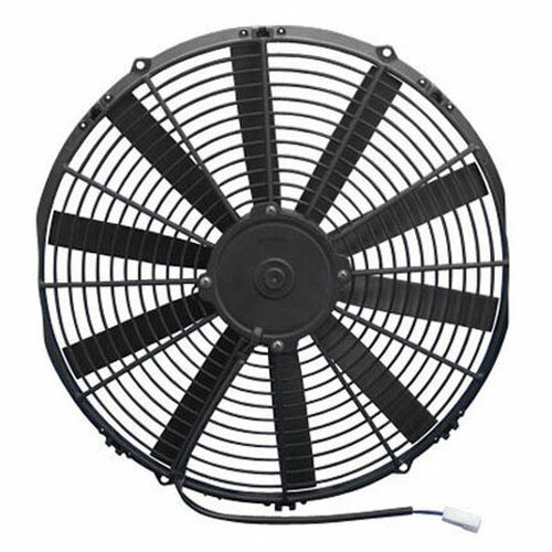 """SPAL 16.00"""" Inch Electric Fan Puller Style Low Profile 1298 CFM 10 Straight Style blades"""