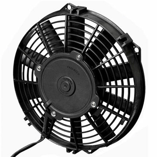 """SPAL 9.00"""" Inch Electric Fan Pusher Style Low Profile 590 CFM 10 Straight Style blades"""