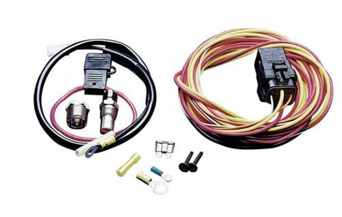 SPAL Single Fan 40amp relay wiring harness kit 195 degree on/175 degree off with Sending unit