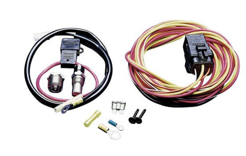 SPAL Single Fan 40amp relay wiring harness kit 185 degree on/165 degree off with Sending unit