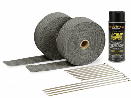 Design Engineering Black Exhaust Wrap And Black HT Coating