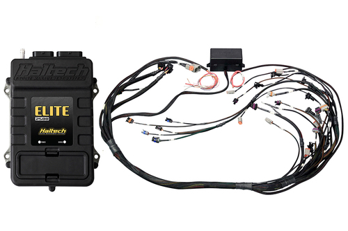 Haltech Elite 2500 + GM GEN IV LSx (LS2/LS3 etc) non DBW Terminated Harness Kit Bosch EV6 Injector