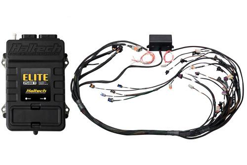 Haltech Elite 2500 T + GM GEN IV LSx (LS2/LS3 etc) DBW Ready Terminated Harness Kit Bosch EV6 injector