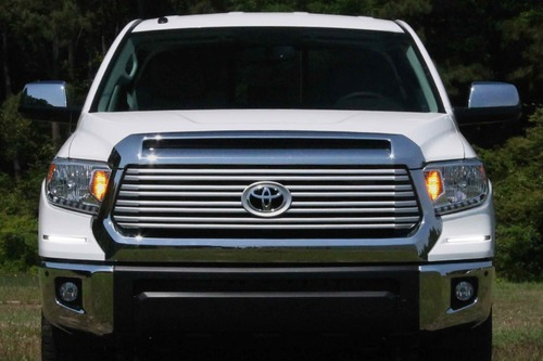 Auer Automotive LED DRL Retrofit Kit: Toyota Tundra (18-20) (Onyx Black) (OE LED Heads)