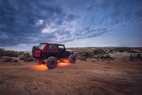 LED Dome Light: Baja Designs w/Switch (Red)