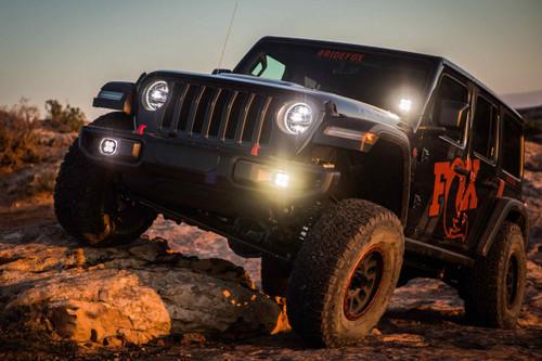 Baja Designs LED Fog Light System: Jeep JL Sahara (19+) (White / Squadron Sport)