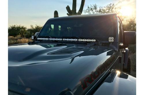 "Baja Designs Cowl-Mount LED System: Jeep Wrangler JL (1x 40"" S8 Bar + 2x Squadron Sport)"