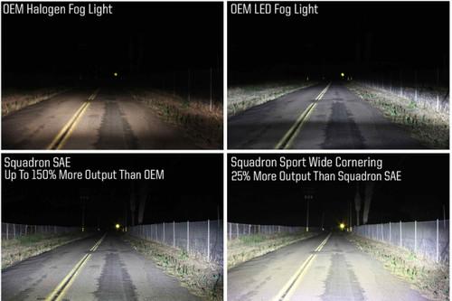 Baja Designs LED Fog Light System: Silverado 1500 (14-15) (White W/C & Sport D/C / SAE / Squadron)