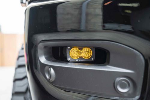 Baja Designs LED Fog Light System: Dodge Ram HD (19+) (S2 Sport / White)