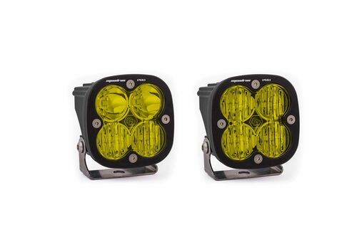 Squadron Pro Light Pods: (Each / Clear / Driving Combo Beam / White Body / Flush Mount)