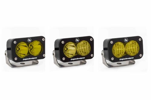 S2 Sport LED Work Light: (Each / Amber / Spot Beam / Flush Mount)