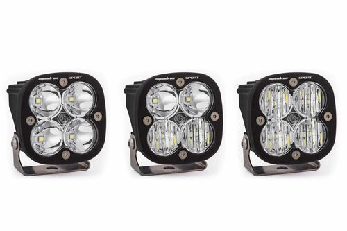 Squadron Sport Light Pods: (Each / Clear / Wide Cornering Beam / White Body / Flush Mount)