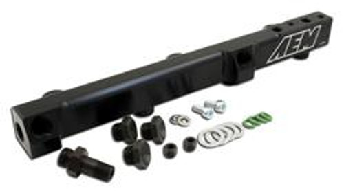 AEM Fuel Rails 90-93 Accord DX/LX/SE/EX & 92-01 Prelude S/Si/Si VTEC Black Fuel Rail