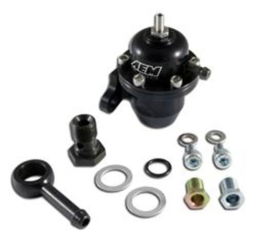 AEM Fuel Pressure Regulators 96-97 Acura CL / 94-97 Accord / 96-00 Civic Ex Black Adjustable Fuel Pressure Regulator