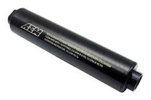 AEM Fuel Filters Universal High Flow -10 AN Inline Black Fuel Filter