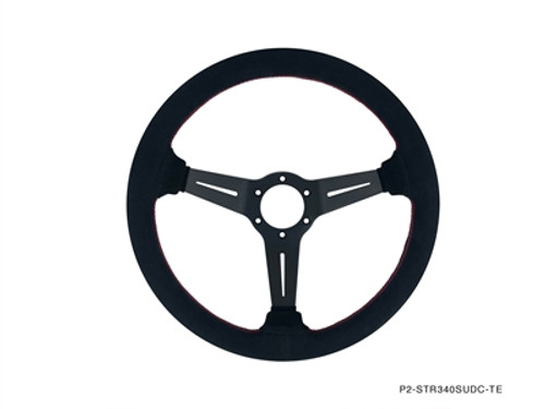 P2M Competition Steering Wheel 340mm Standard Suede