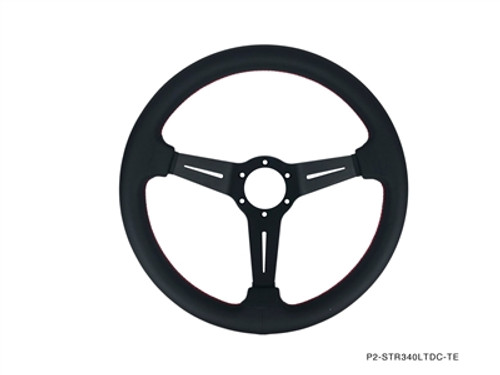 P2M Competition Steering Wheel 340mm Deep Corn Leather
