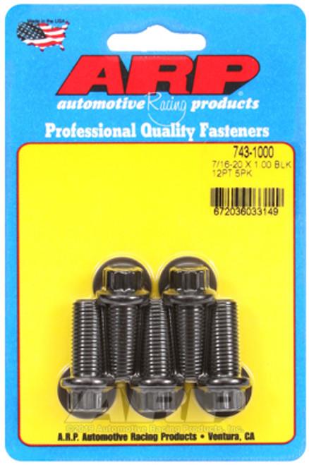 ARP 7/16 Inch -20x1.000in UHL 12pt Black Oxide Bolts (5/pkg)