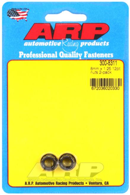ARP M8 x 1.25 12pt Nut Kit 2 Pack