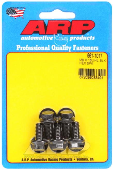 ARP M8 x 1.25 x 16 Hex Black Oxide Bolts (5/pkg)