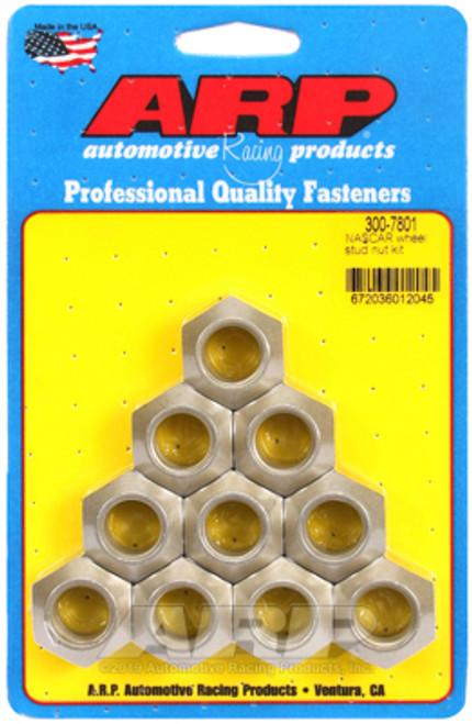 ARP 5/8in -18in NASCAR Wheel Stud Nut Kit (Pack of 10)