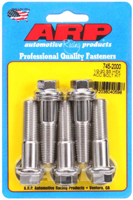 ARP 1/2-20 x 2.000 Hex SS Bolts (5/pkg)