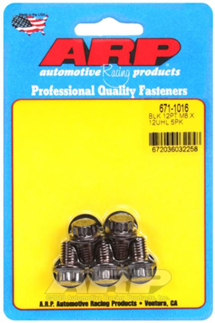 ARP M8 x 1.25 x 12mm 12pt Black Oxide Bolts (5 pkg)
