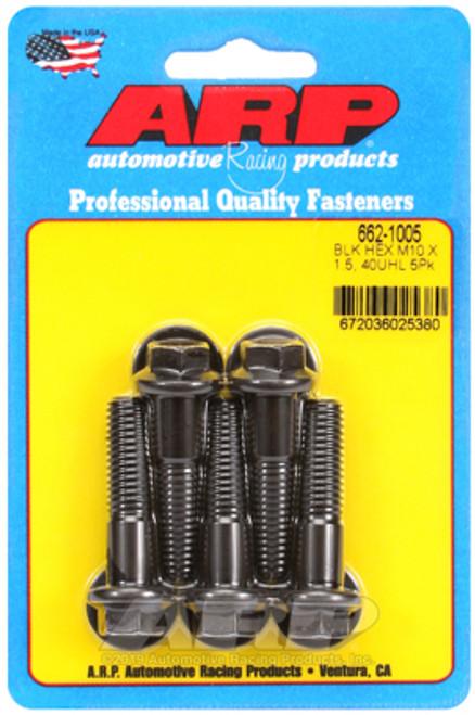 ARP M10 x 1.50 x 40 Hex Black Oxide Bolts (5/pkg)