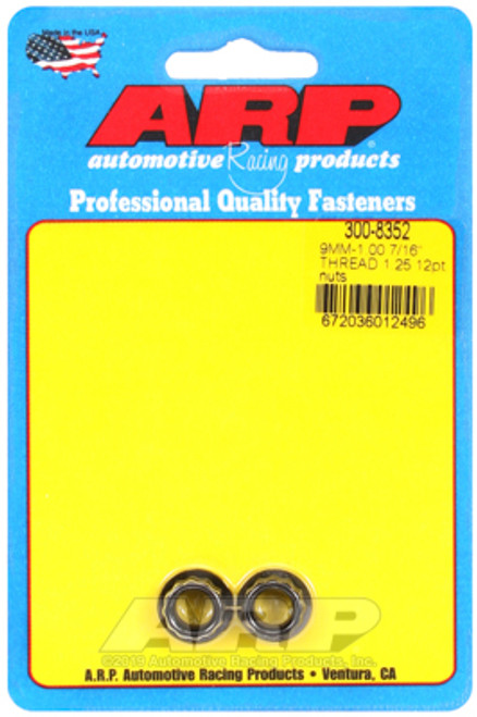 ARP M9 x 1.25 12pt Black Nut Kit (Set of 2)