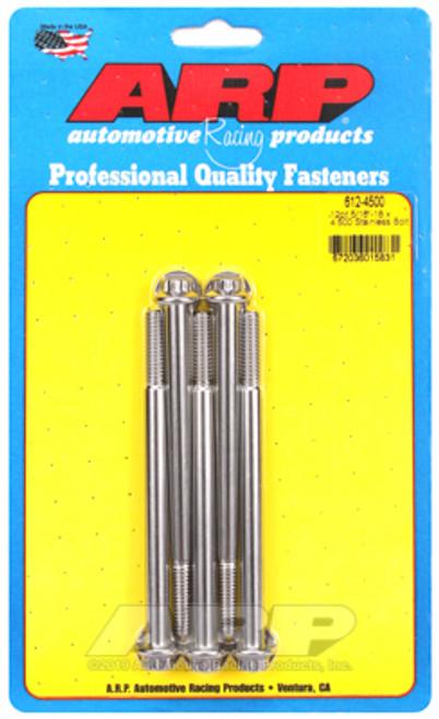 ARP 5/16-18 x 4.500in 12pt Stainless Steel Bolt Kit (5/pkg)
