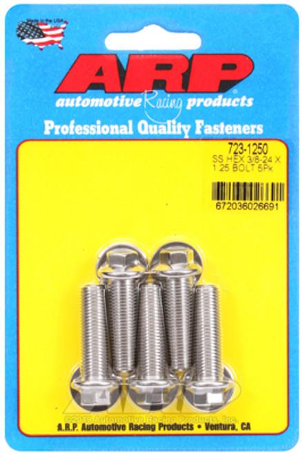 ARP 3/8-24 x 1.250 Hex SS Bolts (5/pkg)
