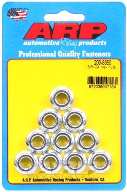 ARP 3/8-24 Hex Nut Kit (10 Pack)