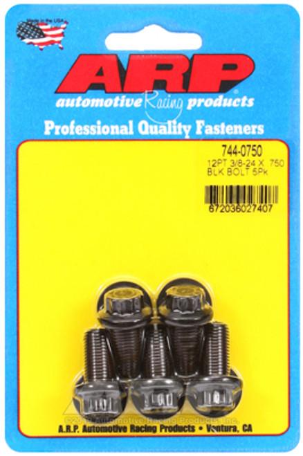 ARP 3/8-24 x 0.750 12pt 7/16 Wrenching Black Oxide Bolts (5/pkg)