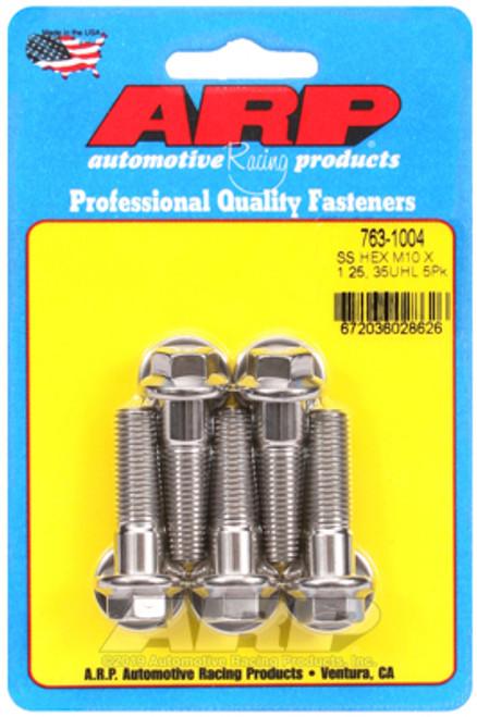 ARP M10 x 1.25 x 35 Hex SS Bolts (5/pkg)