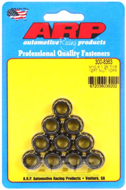 ARP M10 x 1.25 12pt Nut Kit (10 pack)