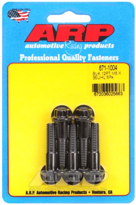 ARP M8 x 1.25 x 35 12pt Black Oxide Bolts (5/pkg)