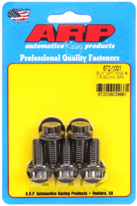 ARP M10 x 1.50 x 20 12pt Black Oxide Bolts (5/pkg)