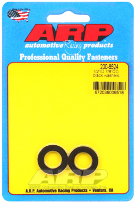 ARP 1/2in ID 7/8inOD Black Washer (Pack of 2)