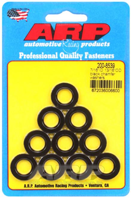 ARP 7/16inID 13/16inOD Black Chamfer Washers (Pack of 10)