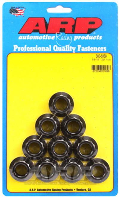ARP 5/8 -18in 12pt Nut Kit (Pack of 10)