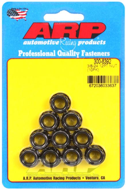 ARP 3/8-24 1/2 Socket .645 Flange OD 12pt Nut Kit (10 pack)