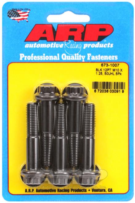 ARP M10 x 1.25 x 50 12pt Black Oxide Bolts (5/pkg)