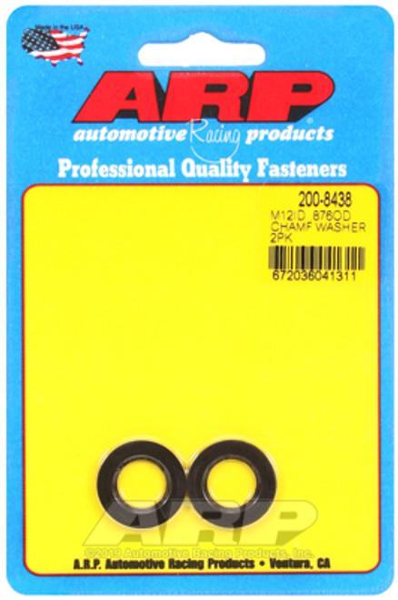 ARP M12 ID .876in OD Chamfer Black Washer Kit (Qty 2)