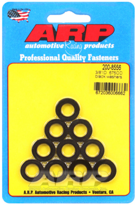 ARP 3/8 ID 0.675 OD Black Washers - Pack of 10