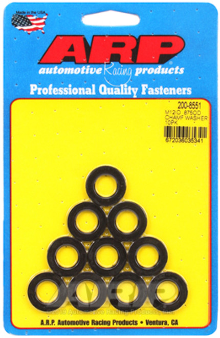 ARP M12 ID .875 OD Black Washers - Pack of 10
