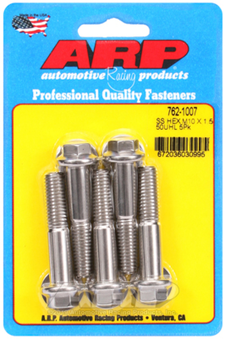 ARP M10 X 1.50 X 50 Hex SS Bolts