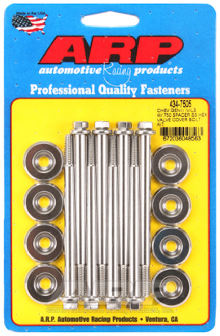 ARP Small Block Chevy GENIII/IV LS Series .750 Spacer Hex Valve Cover Bolt Kit - Stainless Steel